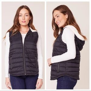 JACK by BB Dakota Take on Me Quilted Vest Faux Fur
